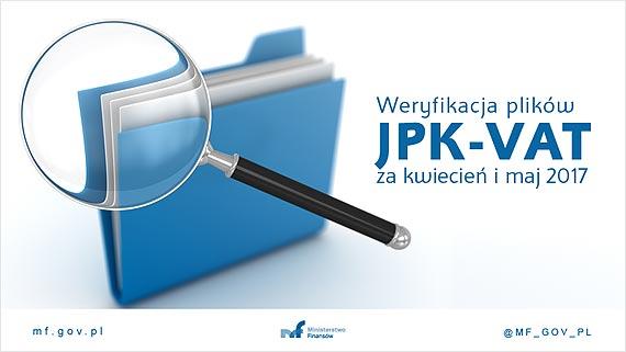 Weryfikacja plików JPK_VAT za kwiecień i maj 2017