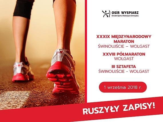 """OSiR """"Wyspiarz"""" rozpoczyna zapisy na 39 Maraton Świnoujście - Wolgast"""