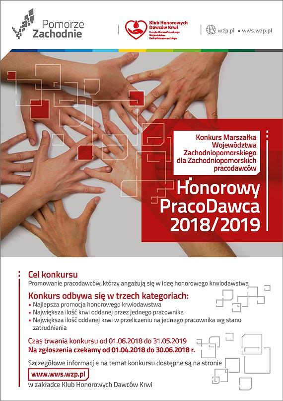Honorowy PracoDawca  - konkurs Marszałka Województwa Zachodniopomorskiego