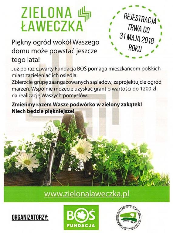 Zielona Ławeczka 2018