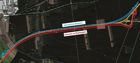 Od dzisiaj na czas wakacji pojedziemy dwoma jezdniami A6 od Szczecin Dąbia do Rzęśnicy