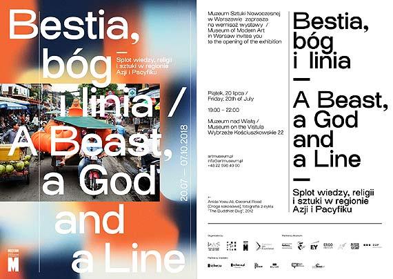 Zaproszenie na konferencję prasową, wernisaż oraz wydarzenia towarzyszące wystawie Bestia, bóg i linia