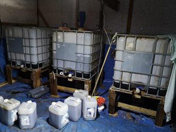 Świdwińscy policjanci zlikwidowali linię do produkcji substancji psychotropowych