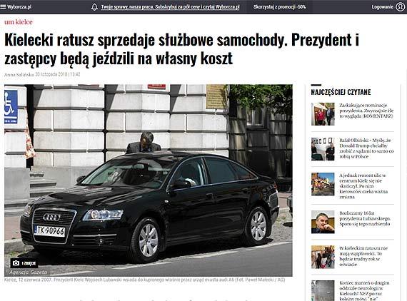 Czytelnik: Czy Janusz Żmurkiewicz zamierza sprzedać służbowe samochody należące do Urzędu Miasta Świnoujścia?