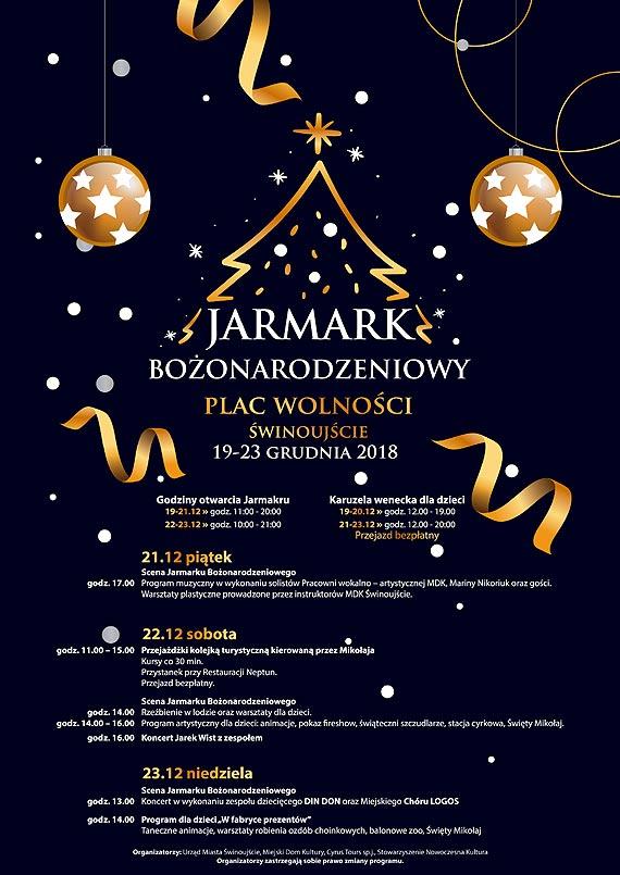 Szczegółowy program Jarmarku Bożonarodzeniowego 2018