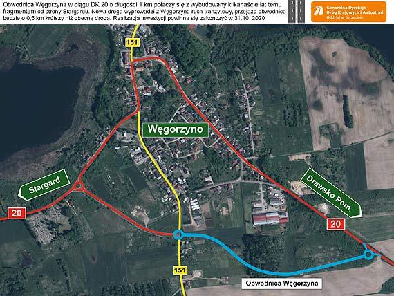 Oferty cenowe w przetargu na budowę obwodnicy Węgorzyna otwarte