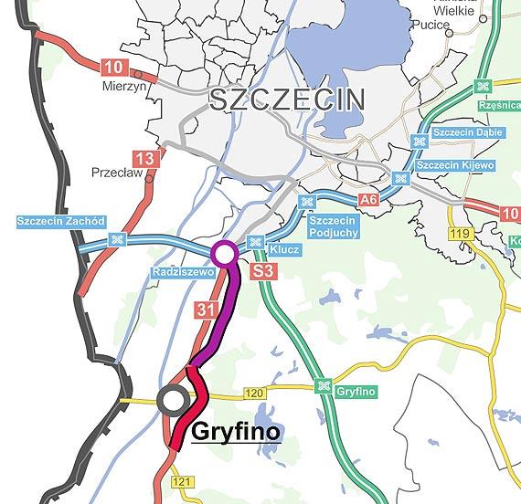 Wybrano wykonawców dokumentacji dla obwodnicy Gryfina i odcinka Radziszewo-Gryfino na DK31