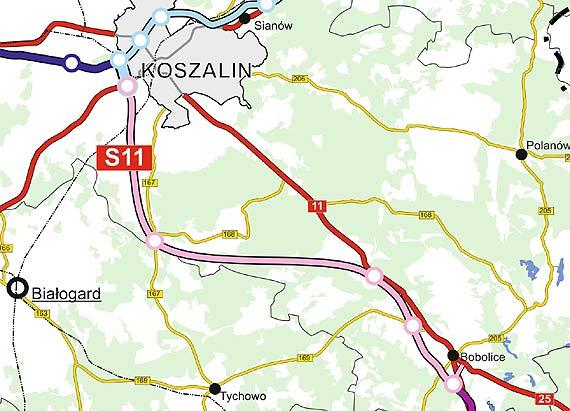 Będą większe środki na budowę S11 Koszalin – Bobolice