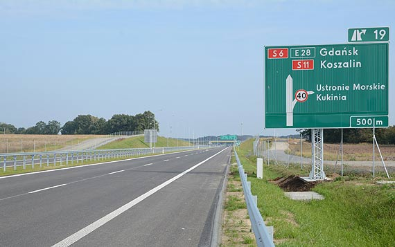 S6 sięgnęła do Koszalina - 130 km nowej drogi ekspresowej przejezdne