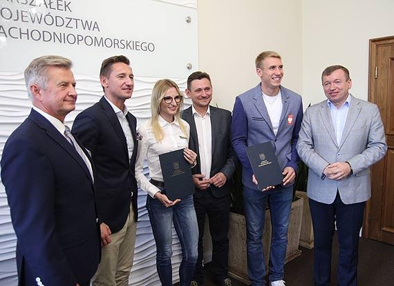 Medaliści mistrzostw świata DOHA 2019 odwiedzili marszałka