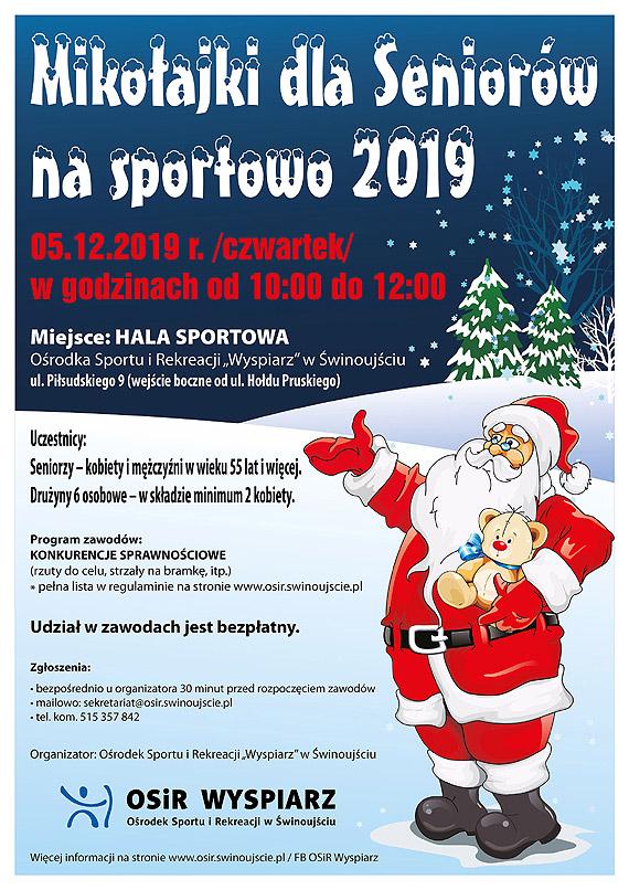 Zaproszenie na Mikołajki dla Seniorów na sportowo