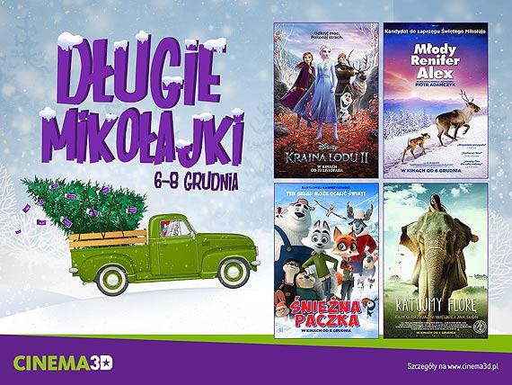 Od 6 do 8 grudnia Długie Mikołajki w Cinema3D!