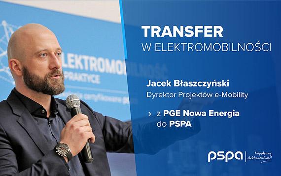 Transfer w elektromobilności - z PGE Nowa Energia do PSPA