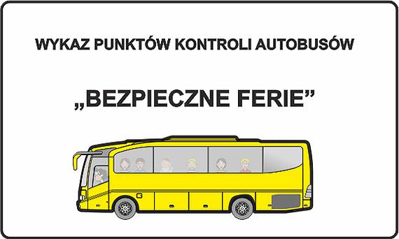 """""""Bezpieczne ferie"""" 2020 - autobusy do kontroli"""