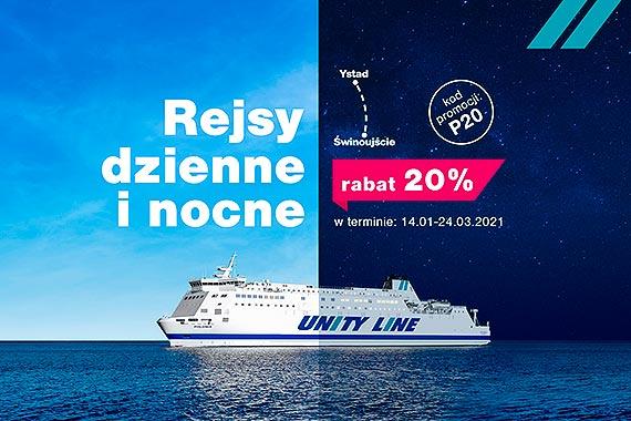 Tańsze rejsy dzienne i nocne w Unity Line
